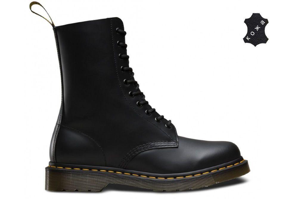 a869ca9c Кожаные ботинки Dr.Martens 1490 11857001 черные - купить за 13 500 ...