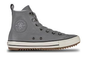 Кожаные кеды Converse Chuck Taylor All Star Hiker Boot 161513 серые