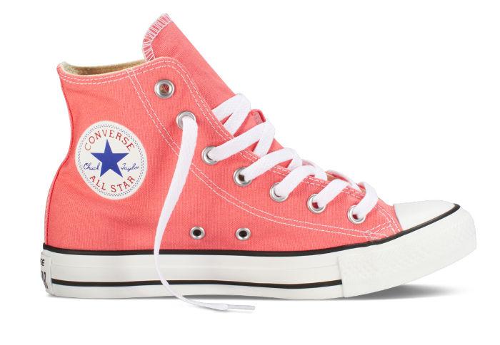 Купить кеды Converse (конверс) Chuck Taylor All Star 142365 коралловые - продажа в Москве, цены в интернет-магазине OIMIO.RU