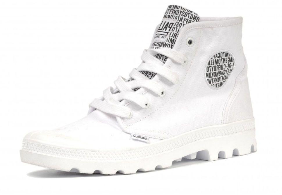 Мужские ботинки Palladium Pampa Hi 72352-142 белые - купить за 5 600 ... 6d1ab83fac6fd