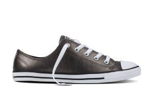 Кеды Converse Chuck Taylor All Star Dainty Metallic Leather 553337 серебряные