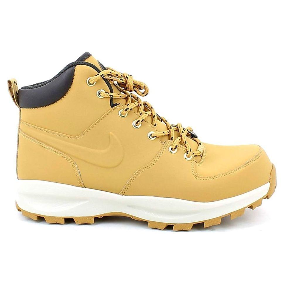 131bca55 Ботинки мужские Nike Nike Manoa Leather 454350-700 высокие утепленные желтые