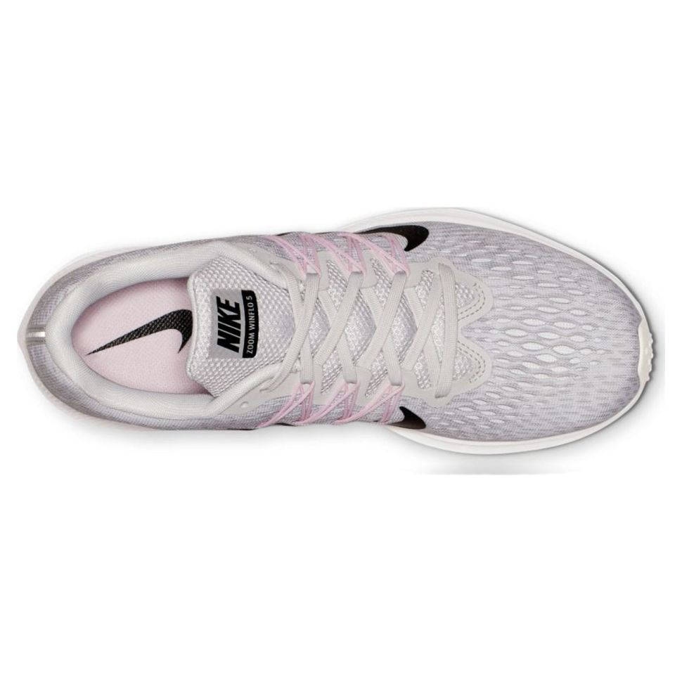 66ab11be Кроссовки женские Nike Air Zoom Winflo 5 AA7414-013 текстильные белые - Кроссовки  женские Nike