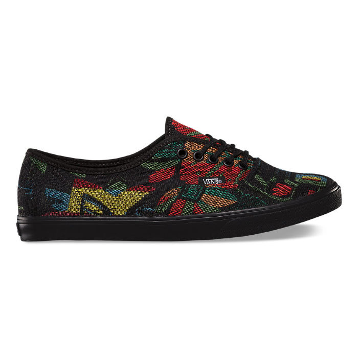 Кеды Vans Authentic Lo Pro (Tapestry flora multicolour) VW7NDU8 черные