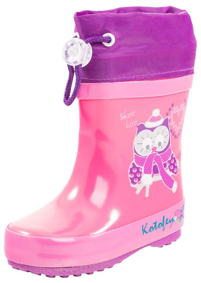34b3d68b5 Детские резиновые сапоги Котофей 166052-11 для девочек розовые ...