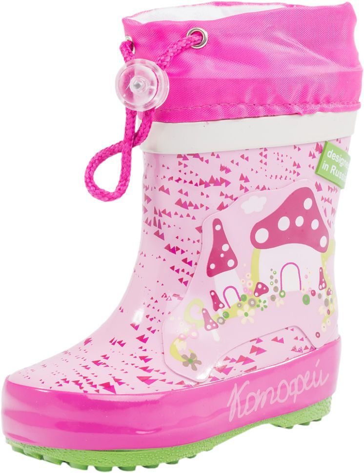 af74b02d2 Детские резиновые сапоги Котофей 166063-11 для девочек розовые ...