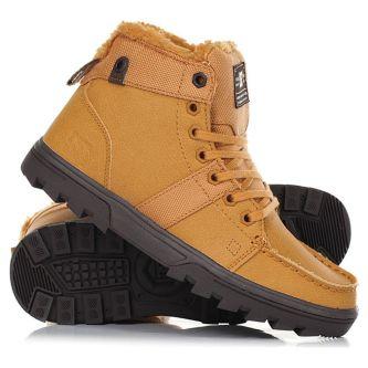 cb596d19 Ботинки женские Dc Shoes Woodland J Boot We9 ADJB700003-WE9 зимние  утепленные кожаные коричневые