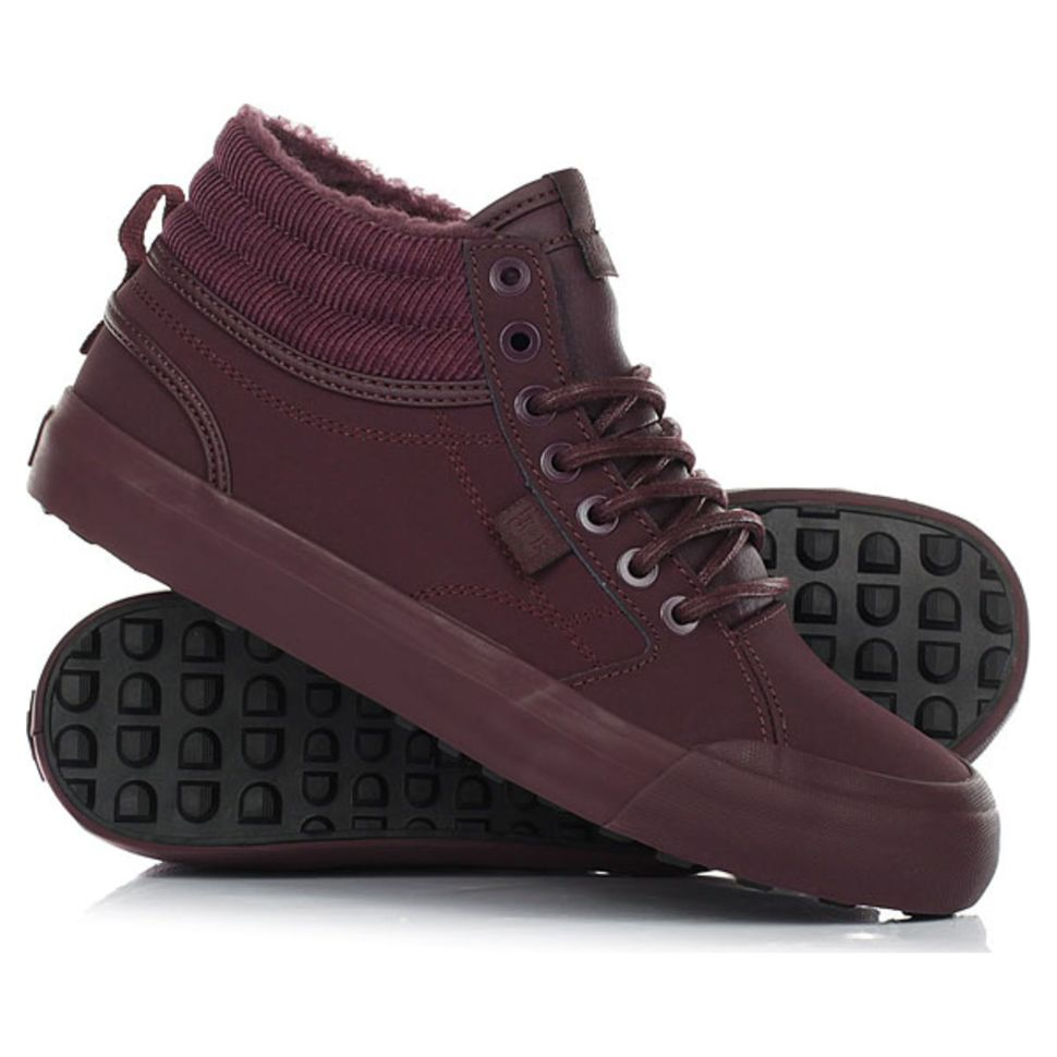 9efd4478a Кеды женские Dc Shoes Evan Hi Wnt J Shoe Mar ADJS300188-MAR зимние  утепленные кожаные