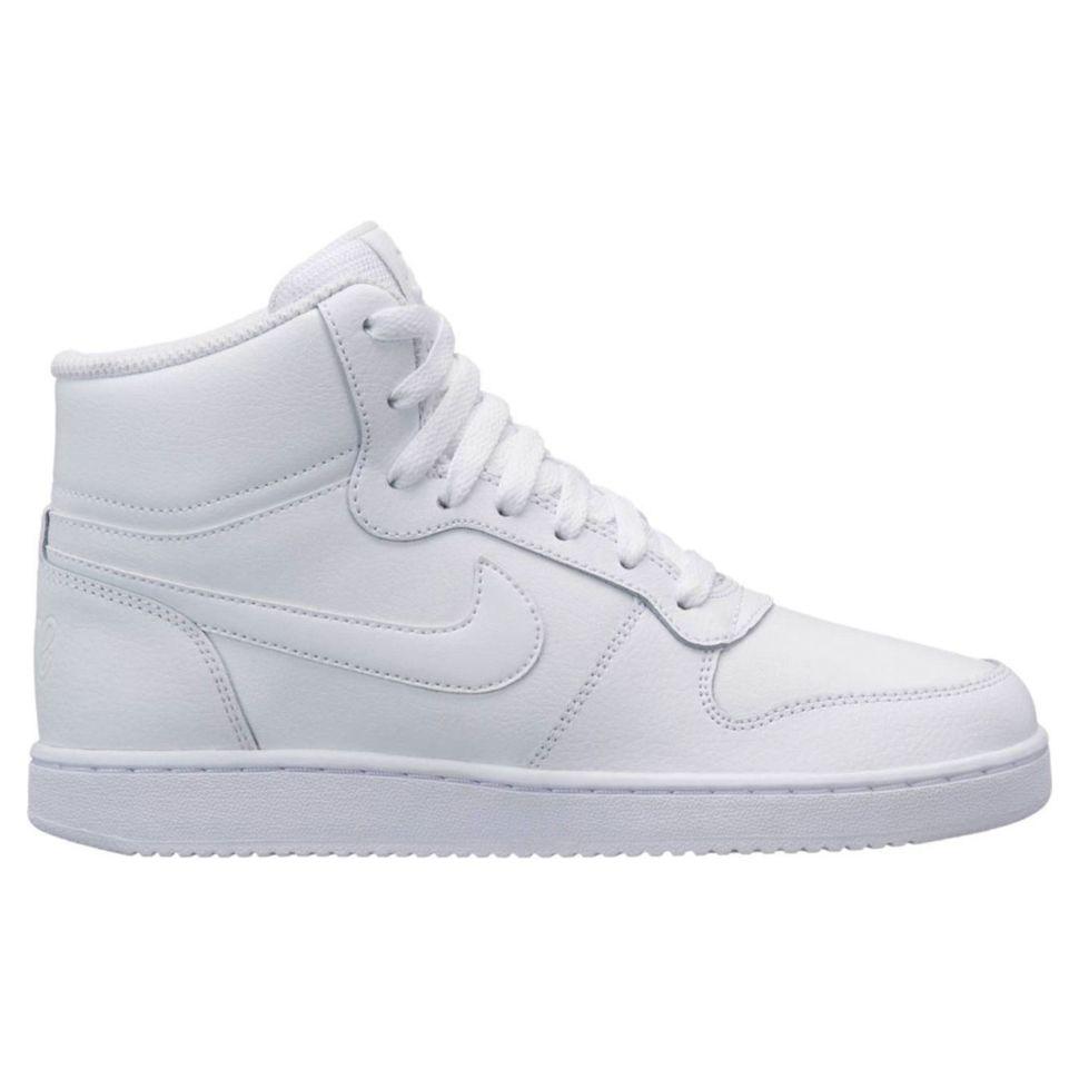 98930da9 Кроссовки женские Nike Nike Ebernon Mid AQ1778-100 высокие кожаные белые