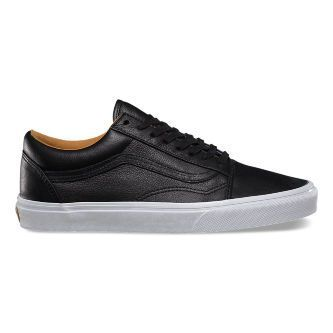 Кожаные кеды Vans Old Skool (Premium Leather) VZDFEW9 черные