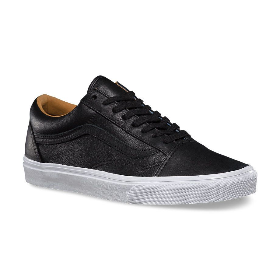 f90b2ffbd078 Кожаные кеды Vans Old Skool (Premium Leather) VZDFEW9 черные ...