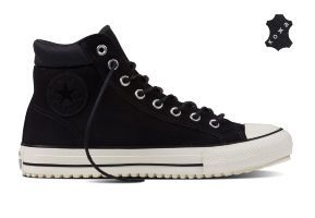Кожаные кеды Converse Chuck Taylor All Star Converse Boot PC 153675 темно-серые