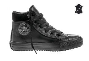 Кожаные кеды Converse Chuck Taylor All Star Converse Boot PC 654312 черные