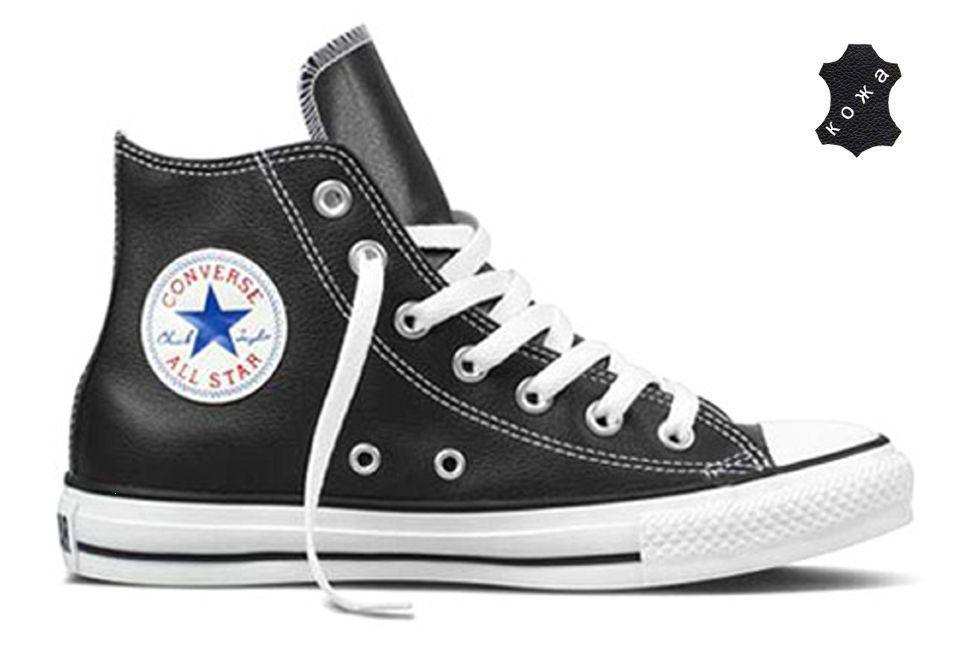 3fa79fe08eed Кожаные кеды Converse Chuck Taylor All Star 132170 черные - купить ...