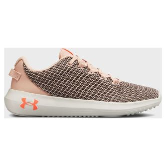 Кроссовки женские Under Armour Ripple Flushed Pink / Black / After Burn 3021187-601 текстильные бежевые