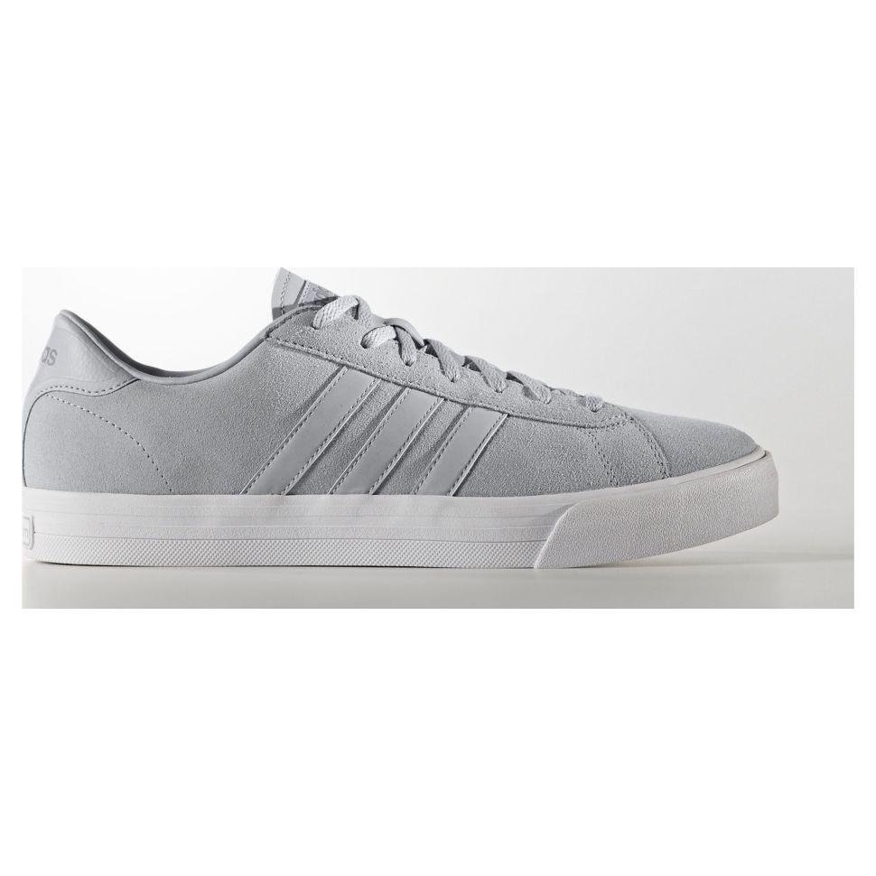 3d2ba87f Кроссовки мужские Adidas Cloudfoam Super Dai AW3905 стильные с белой  подошвой серые