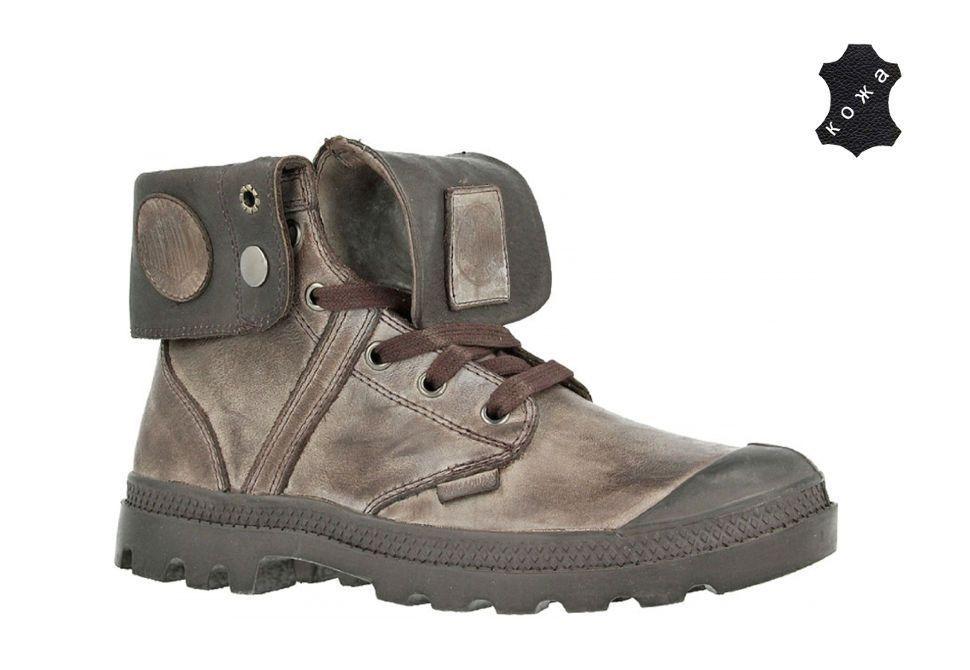 Кожаные женские ботинки Palladium Pallabrouse Baggy L2 canache 93080-235  серые Кожаные женские ботинки Palladium 9d57564db4998