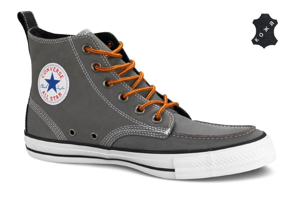 9d636820906f Кожаные кеды Converse (конверс) Chuck Taylor Classic Boot 125650 темно-серые