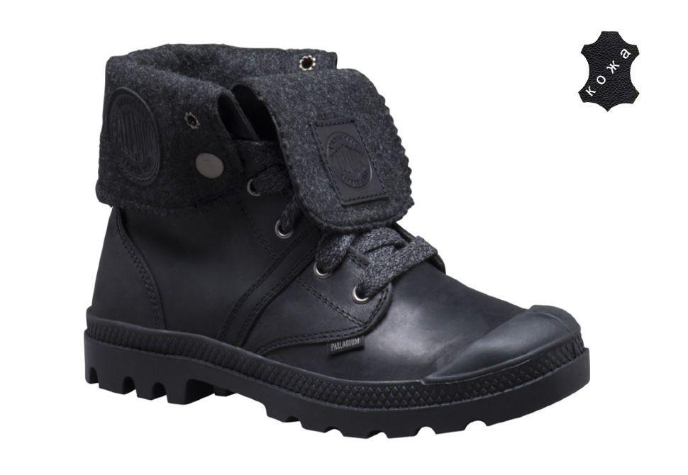 Кожаные женские ботинки Palladium Pallabrouse BGY Plus 2 93471-068 черные b391afd7943ae