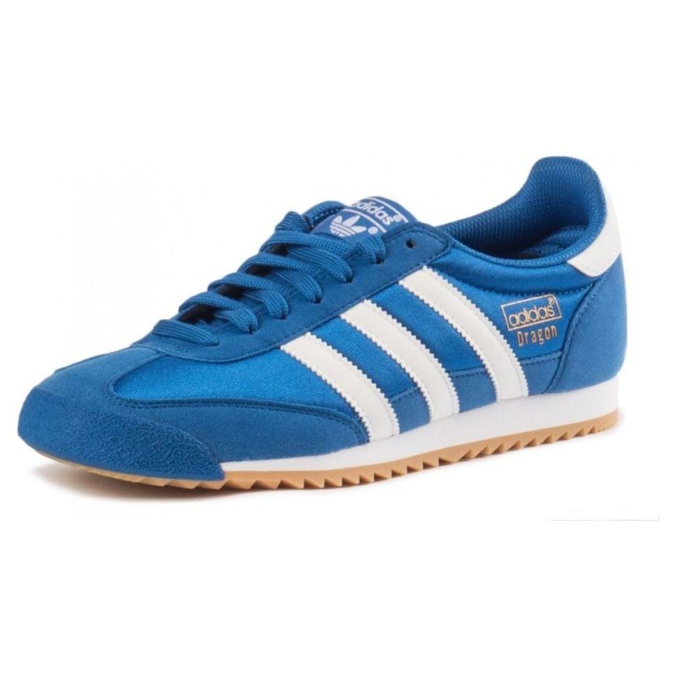 7a50754e Кроссовки мужские Adidas Dragon Og BB1269 стильные с белой подошвой синие