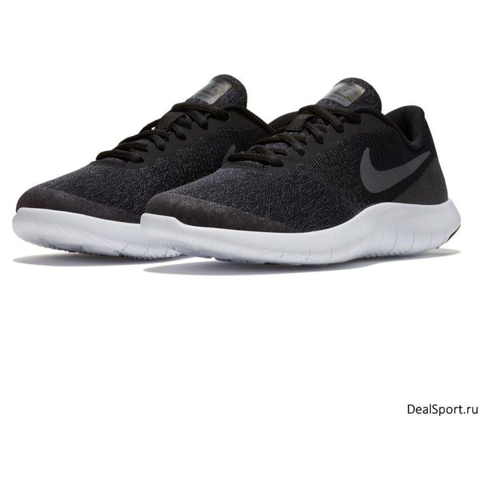 12ef7d20 Беговые кроссовки детские Nike Flex Contact (Gs) Running Shoe 917932-002  легкие спортивные черные