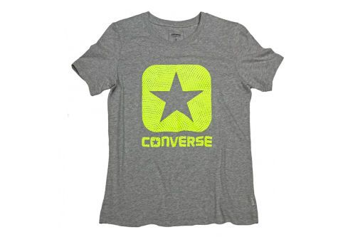 Футболка женская Converse Reflective Fill Box Star Tee 10003143035 серая
