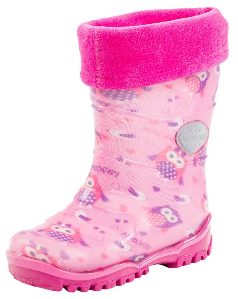 df3dda1e9 Детские резиновые сапоги Котофей 266010-11 для девочек розовые ...