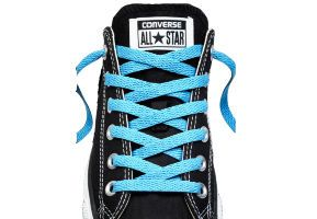 Шнурки converse (конверс) Low-Top Replacement ярко-голубые 137 см