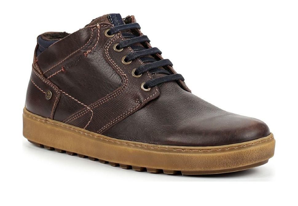 79778f18 Зимние мужские ботинки Wrangler Historic Fur S WM182083-30 коричневые