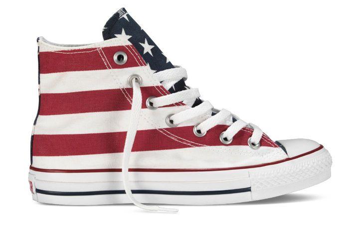 Купить кеды Converse (конверс) Chuck Taylor All Star M8437 с американским флагом - продажа в Москве, цены в интернет-магазине OIMIO.RU