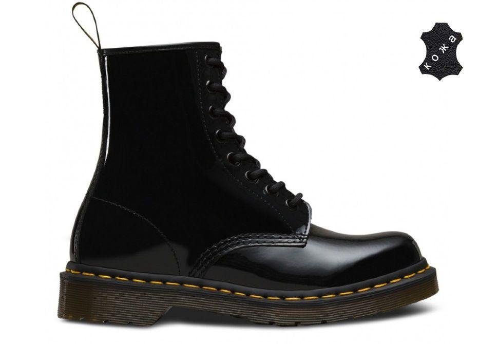 761d91c1 Кожаные женские ботинки Dr.Martens 1460 W 11821011 черные - купить ...