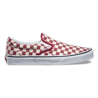 Слипоны Vans Classic Slip-On Checkerboard V3Z4ICL красный