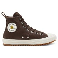 Кеды женские Converse Leather And Warmth Chuck Taylor All Star Hiker High Top 568812 кожаные коричневые