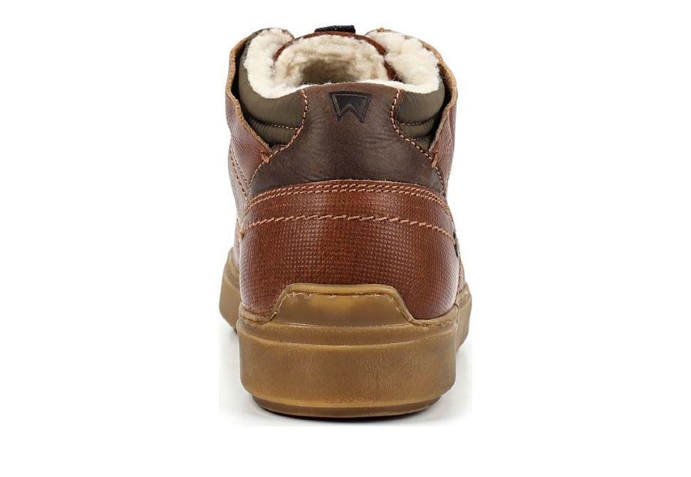 fb841f17 Зимние мужские ботинки Wrangler Historic Fur S WM182083-64 коричневые