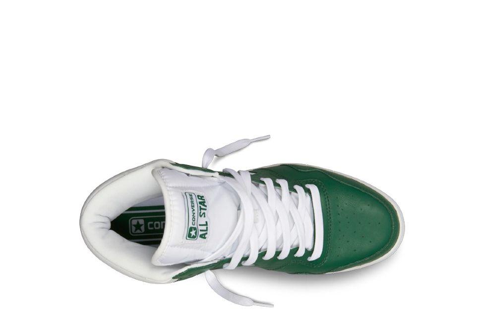 071eea9a Кожаные кроссовки Converse (конверс) Star Tech 121537 зелёные/белые ...