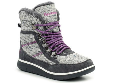 Женские угги Bearpaw Ruby 2047W-Polar Print /Charcoal серые