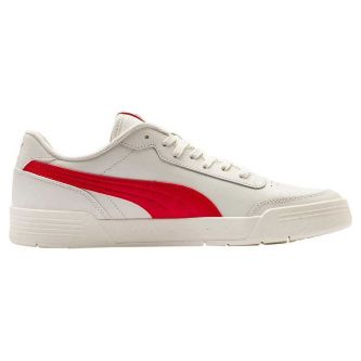 Кеды Puma Caracal Whisper White-High Risk Red 36986305 кожаные белые