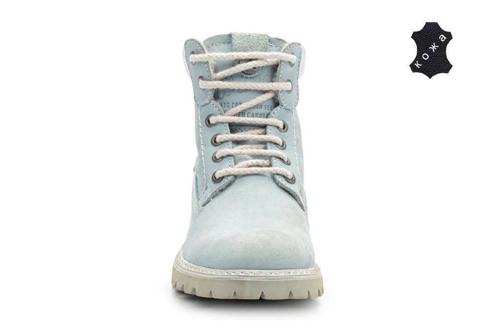 75ee68d2 Зимние женские ботинки Wrangler Yuma Line Creek Fur Nubuck WL142500/F-12  голубые -