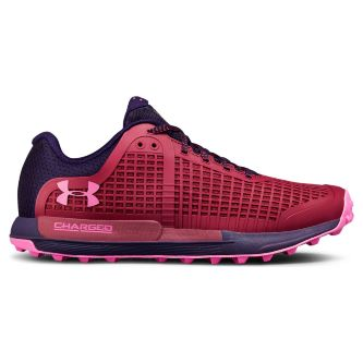 Кроссовки женские Under Armour W'S Ua Horizon Bpf Charged Cherry / Purple Switch / Fluo Fuchsia 3020298-600 низкие красные