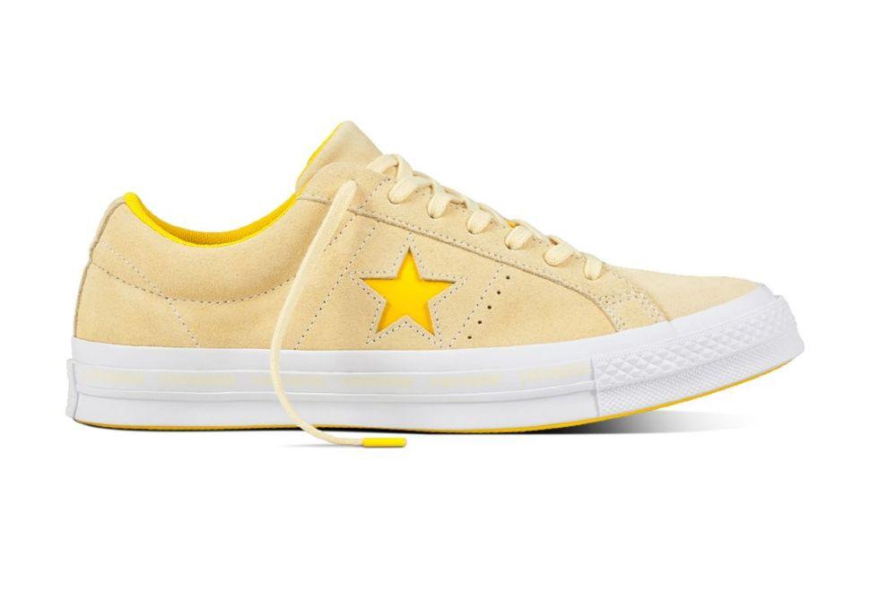 Кожаные кеды Converse One Star 159814 желтые - купить за 6 400 руб ... 616081e3ad1