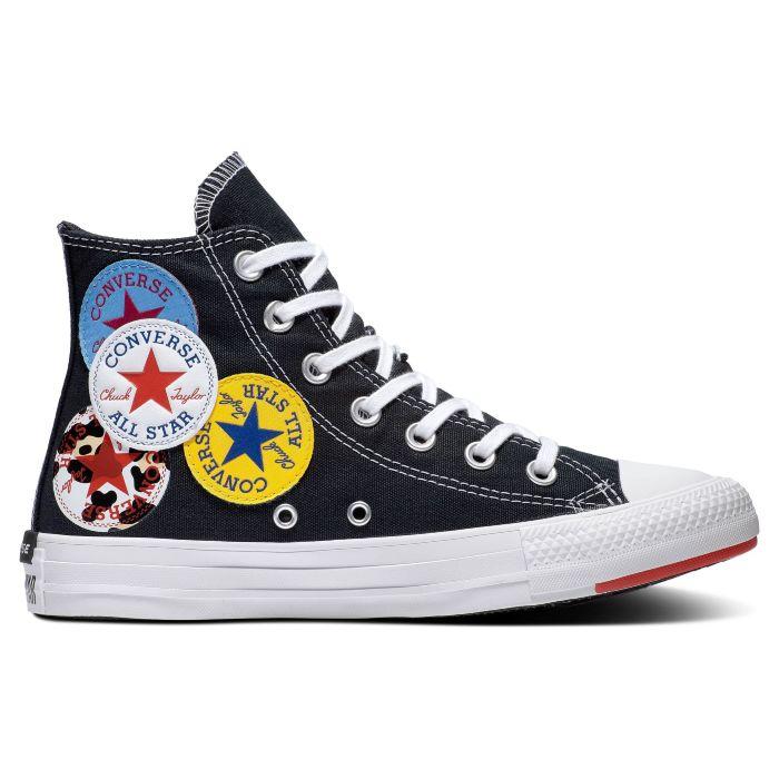 Купить кеды Converse Chuck Taylor All Star 166734 высокие текстильные черные - продажа в Москве, цены в интернет-магазине OIMIO.RU
